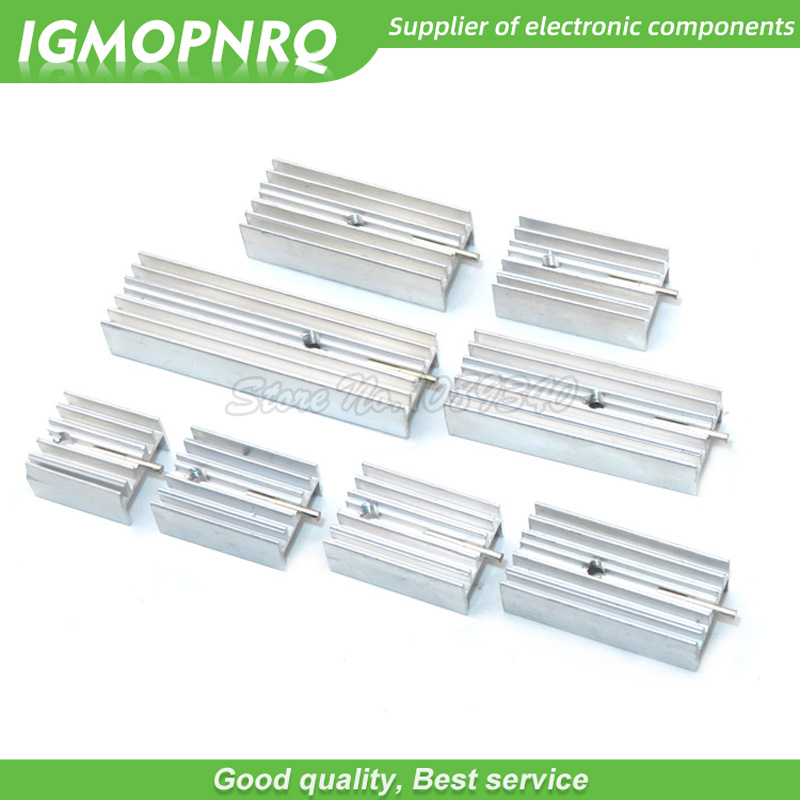 10pcs white Aluminum Heatsink Radiator 15*10*16/20/22/25/30/40/50mm With Needle Transistor TO-220 For TO220 Transistors IGMOPNRQ