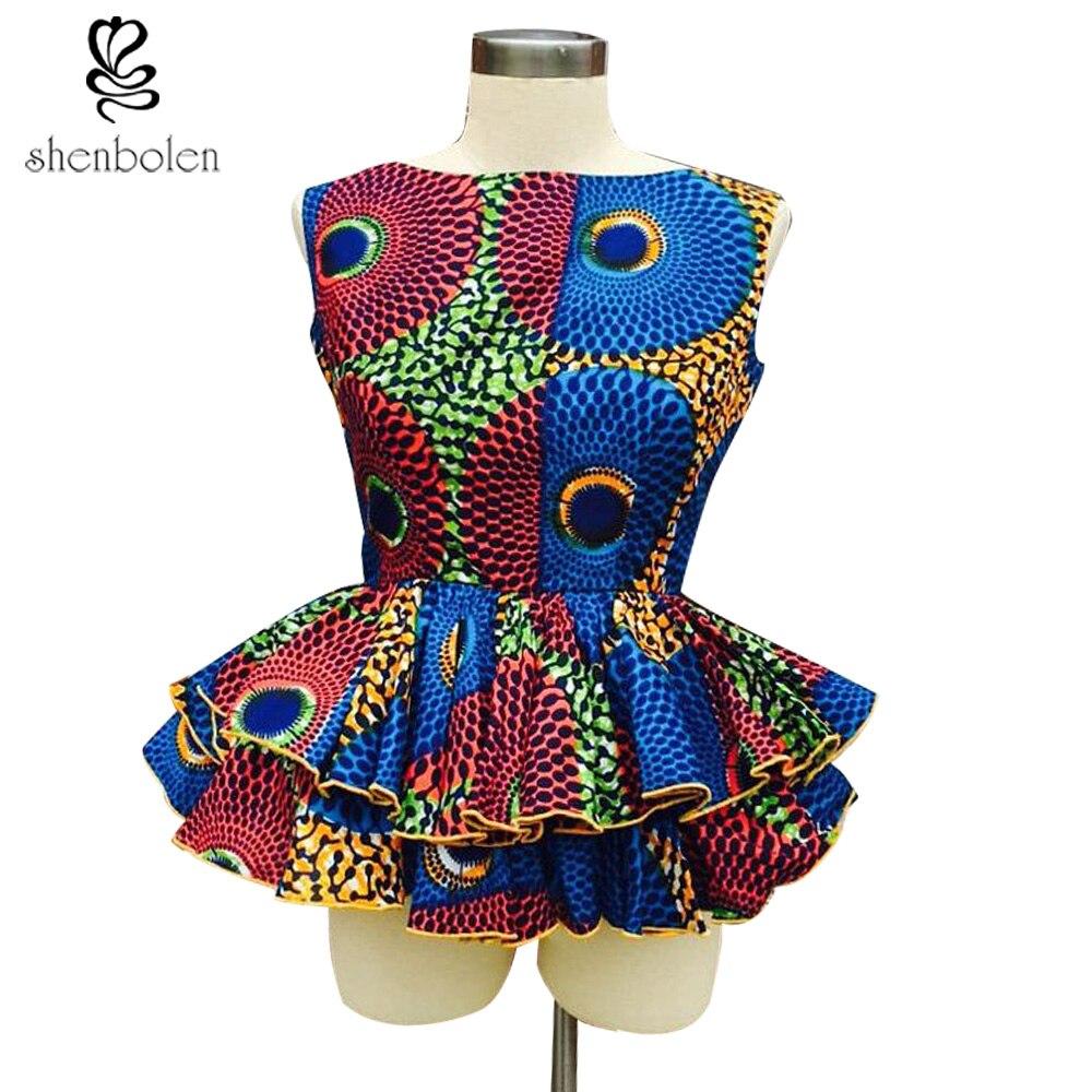 Ankara African lady fashion sleeveless classics batik fabric top high quanlity women beautiful african top girls clothes