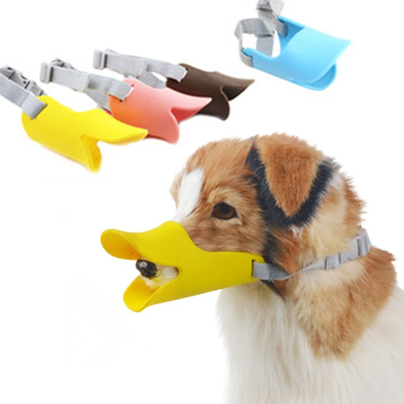 Adjustable Dog Muzzle Mouth Mask No Barking Mask Bark Silicone Pet Products for Small Large Dogs 30S2