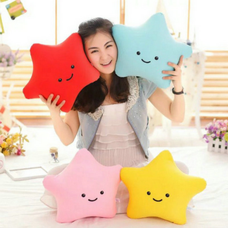 30-60cm Big Size Ctue Sea Star Plush Toys Stuffed Nanopartide Cloth Doll Baby Toys Kids Doll Birthday Gift Red/blue/pink/yellow