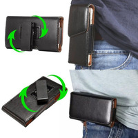 Universal 360 Rotation Style Leather Case Waist Bag Pouch For Leagoo Elite 5 For Iphone 6