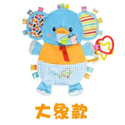 27cm Animal Doll apaciguar con relleno y mordedor felpa dedo mano marioneta muñeca mordedor bebé mordedor juguetes niños regalo
