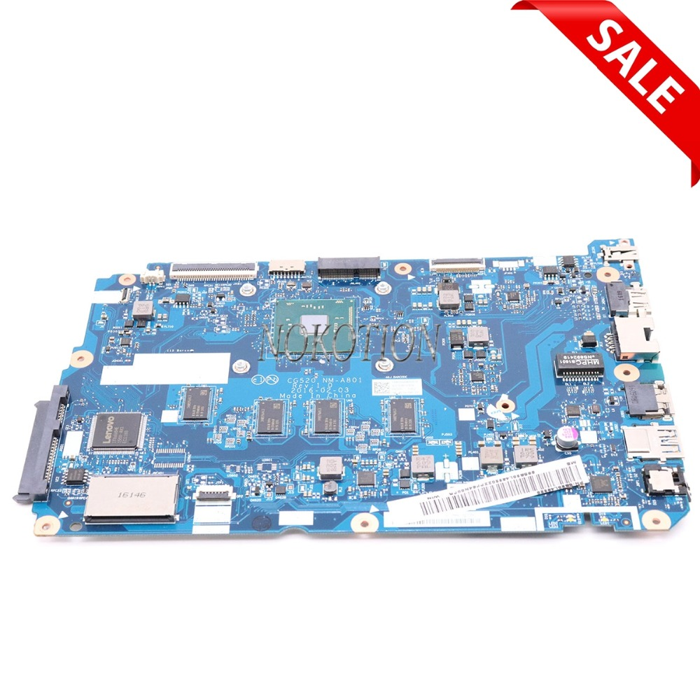 NOKOTION 5B20L46220 CG520 NM-A801 Laptop motherboard For lenovo ideapad 110-15IBR Main board kefu 5b20l77440 nm a804 for lenovo ideapad 110 15ibr laptop motherboard n3060 tested