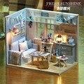 Vigésimo quarto DIY Casa de Bonecas De Madeira Em Miniatura Modelo de Artesanato Kits -- Quarto da menina com móveis de instruções inglês