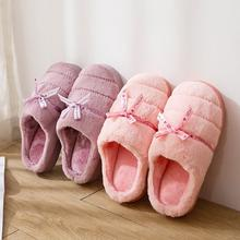 New style cotton slippers for women, wool and cotton shoes for winter 2019(China)