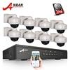 IP Camera POE 1080P HD Vandalproof Dome IR Night Vison Security Surveillance Kit Onvif 8CH POE