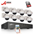 ANRAN Plug And Play 8CH NVR POE Sistema de CCTV 1080 p HD Vandalproof Dome IR noche Vison seguridad cámara de vigilancia kit