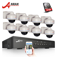 Nuevo precio ANRAN Plug And Play 8CH NVR POE Sistema de CCTV 1080 p HD Vandalproof Dome IR noche Vison seguridad cámara de vigilancia kit