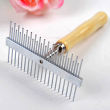 Double Sides Wooden Handle Stainless Steal Needle Large Dog Comb Hairbrush Big Dog Grooming Hair Tool