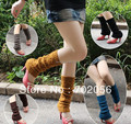 Autumn winter Koreal style  Knitted Leg Warmers Boot Covers 24 pairs/lot mixed colors #3426