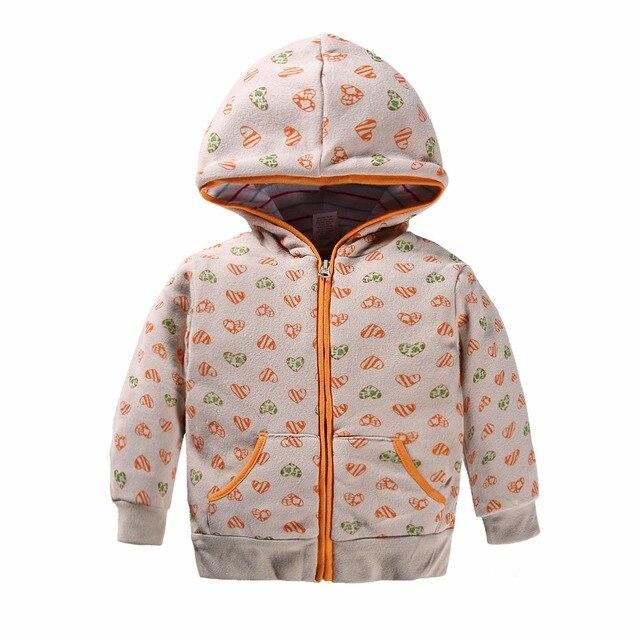 100% Хлопок 1-5 лет куртка для девочки девочка одежда Любовь печатные толстовки дети ребенок С Длинными рукавами Молния с капюшоном Кофты