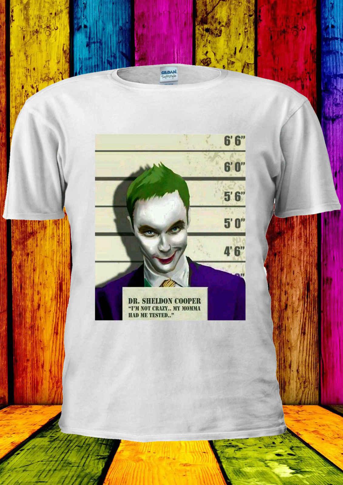 DR. Sheldon Cooper vs The Joker Swag футболка для мужчин и женщин унисекс 2317 Повседневная принтованная футболка, забавная футболка в стиле хип-хоп