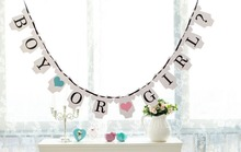 1 X Boy Or Girl Banner Baby Announcement Sign Baby Shower Garland Party Decorations Gender Reveal