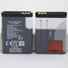 2 шт./лот 1020 мА/ч, BL-5C мобильного телефона Батарея для Nokia 1100 1110 1200 1208 1280 1600 2600 2700 3100 3110 5130 6230 6230i Батарея