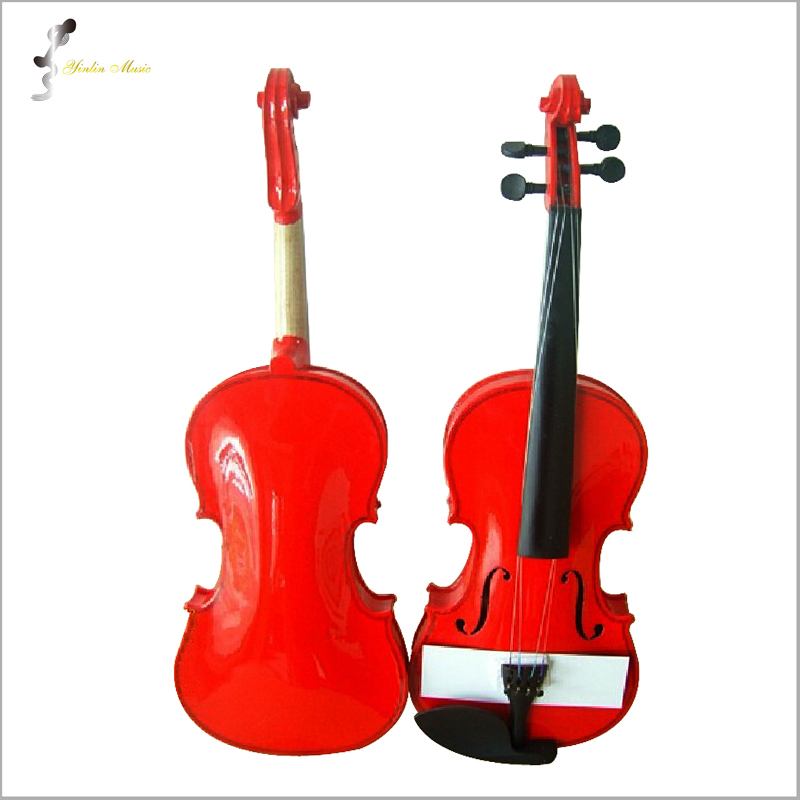 Red Violin 1/4 3/4 4/4 1/2 1/8 Size Available Violin in Full Set (Bow, Rosin and Case) Colorful Violins Many Colors Available 1 4