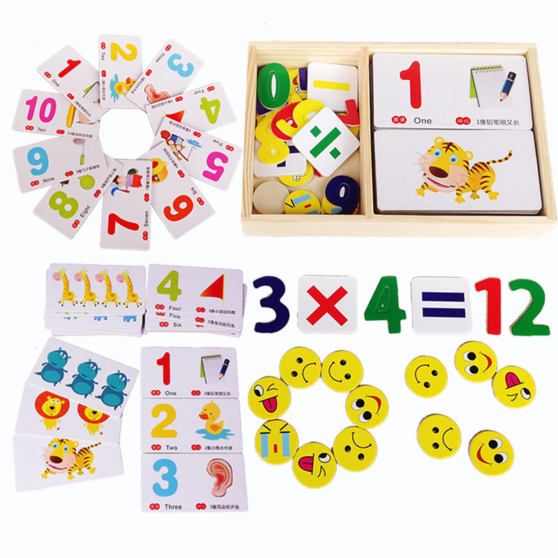 1 Set Montessori Kids Baby Wooden Digital Animal Shape Color Cognitive Learning Box Blocks Toys Children Educational Toy Gifts шапки quiksilver шапка m