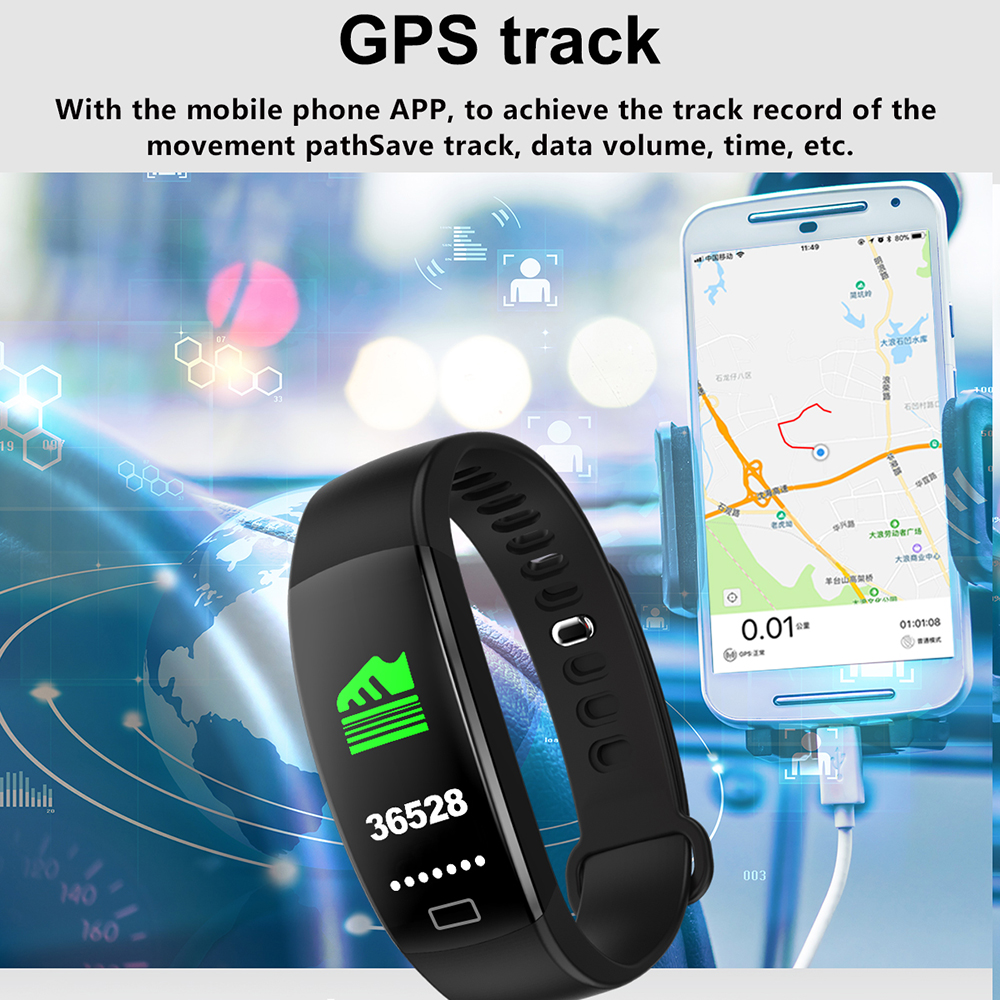 lemfo unisex  fitness smart watch with color screen, blood pressure & amp; heart rate monitor for android ios