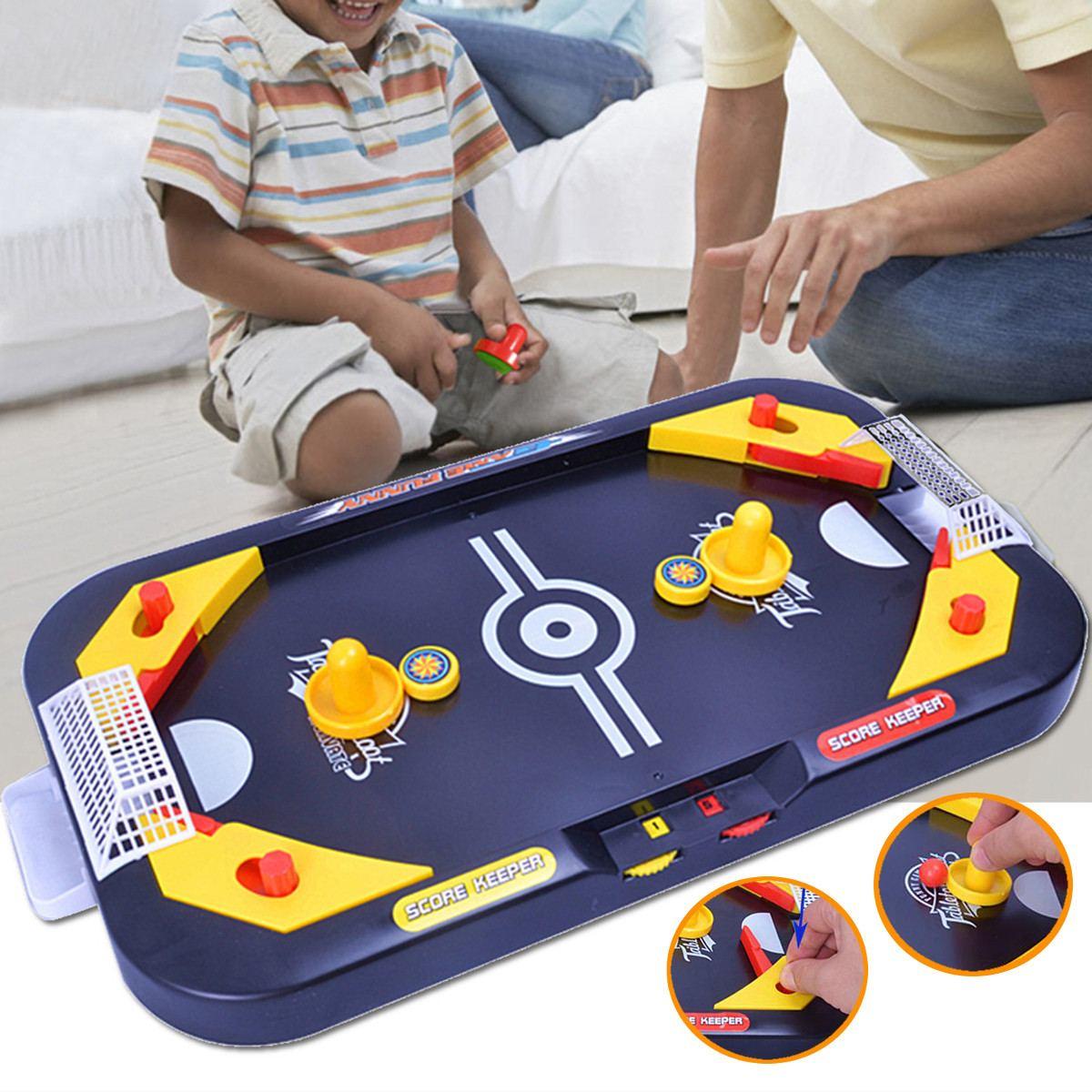 Desktop Battle 2 In 1 Ice Hockey Game Leisure Mini Air Hockey Table Children's Educational Interactive Toys Gift Indoor Sport