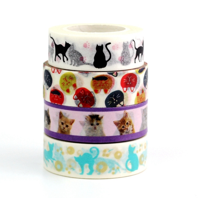 Cute Animals Printed Tape Set