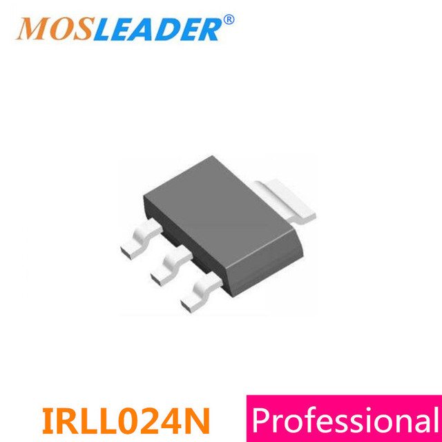 Mosleader IRLL024N SOT223 100 قطع 1000 قطع IRLL024 IRLL024NPBF N قناة 55 فولت 3.1A عالية الجودة