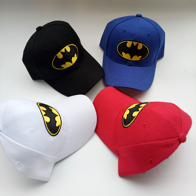 Anime Cartoon Batman Embroidery Child   Baseball     Caps   Girls Boy Casual Visor Hats Adjustable Snapback Hat Hip Hop Hats