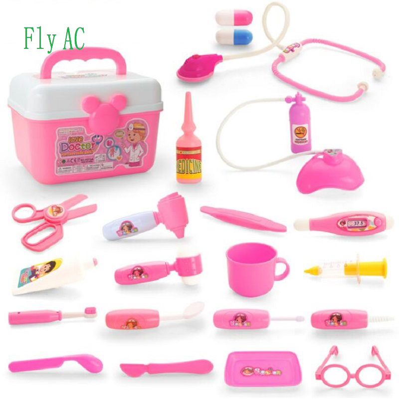 Fly AC Deluxe Doctor Medical Kit - Pretend Play Set Toys for Kids Role Play Educational Baby Toys 22pcs image