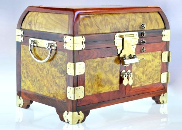 Free Shipping Burmau0027s gold c&horwood cosmetics case jewelry storage box with African siam frame crafts wedding decoration gift-in Storage Boxes u0026 Bins ... & Free Shipping Burmau0027s gold camphorwood cosmetics case jewelry ...