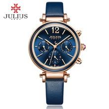 Julius Марка Творческий Часы Дамской одежды Chronos Кварцевые Часы Ретро Старинные Montre Femme Авто День Дата Женские Часы JA-958