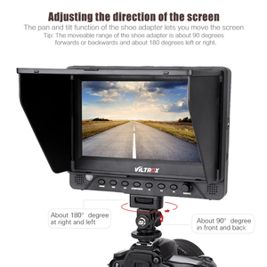 Image 4 - Viltrox DC 70EX 4K 7 Inch HD Clip on Camera Video LCD Monitor for Multimedia for Canon Nikon Sony Pentax Olympus DSLR Cameras