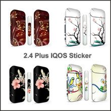 Flower Pattern Skin Sticker For IQOS 2.4 Plus Universal PVC Decorative Antiscratch Antidust Protection Film(China)
