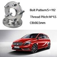 2pcs 5x112 66.5CB Centric Wheel Spacer Hubs M14*1.5 Bolts For Benz B Class Benz CLA Class