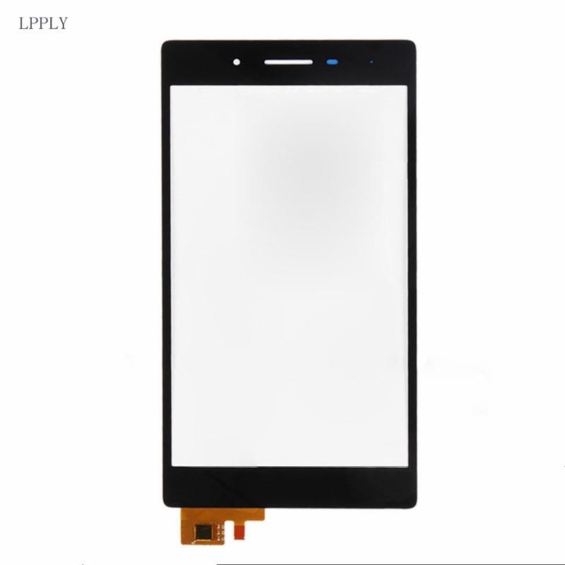LPPLY Noir Pour Lenovo Tab3 3 7 730 TB3-730 TB3-730X TB3-730F TB3-730M Écran Tactile Digitizer Avant Lentille En Verre LIVRAISON GRATUITE