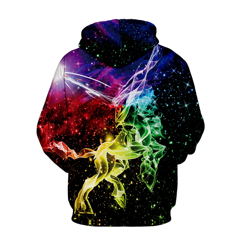 Galaxy Space Unicorn 3D Hoodie  1