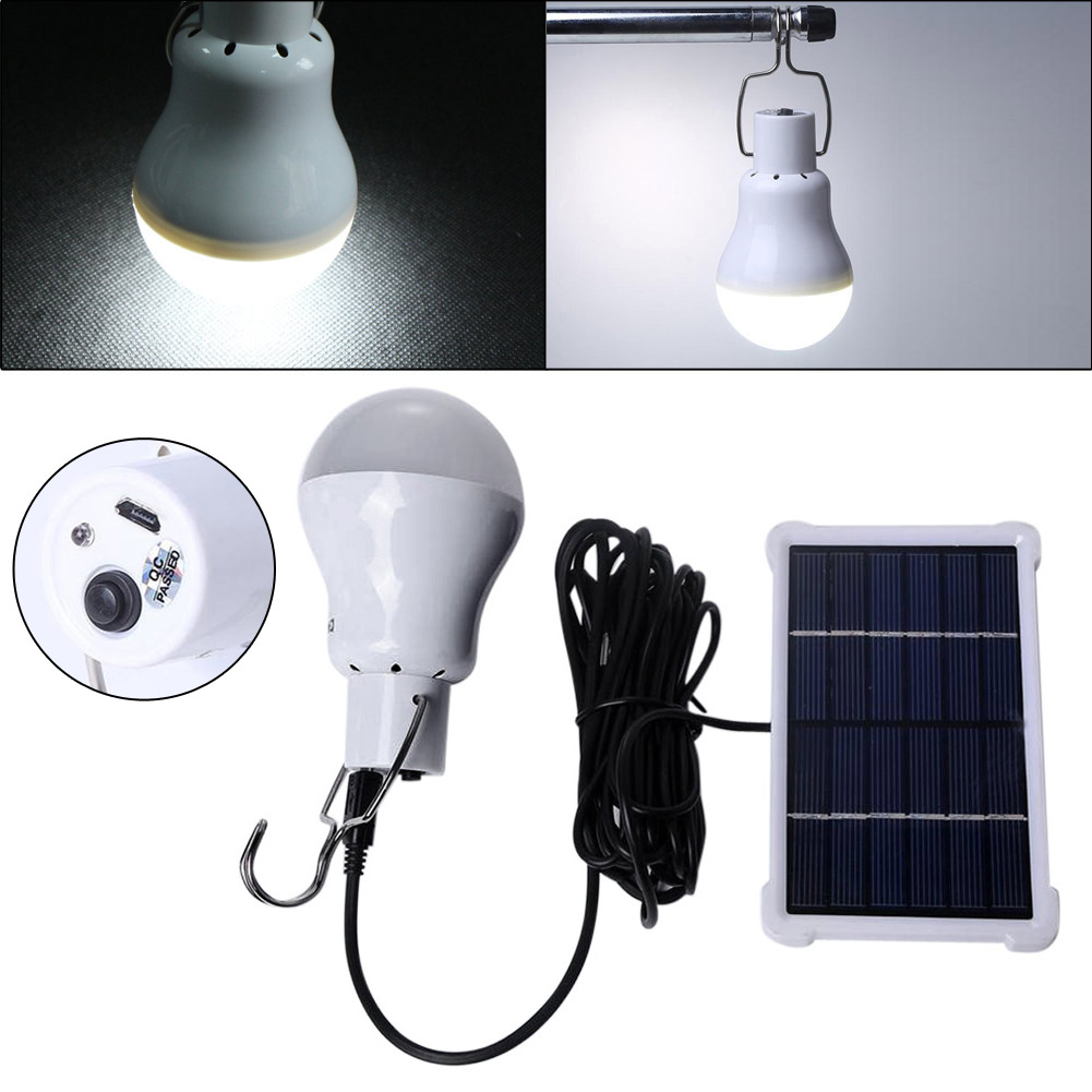 Hot Selling 180lm 12Led IP55 Solar Energy Charge Light Bulb Camping Emergency Lamp For Outdoor Work Light With Lithium Battery cheaper hot sell solar energy small lighting system emergency lighting for camping boat yacht free shipping