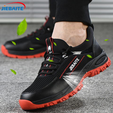 Men Work & Safety Shoes Steel Toe Caps Anti-smashing Anti-puncture Construction Work Boots Non-slip Breathable Security shoes Lahore