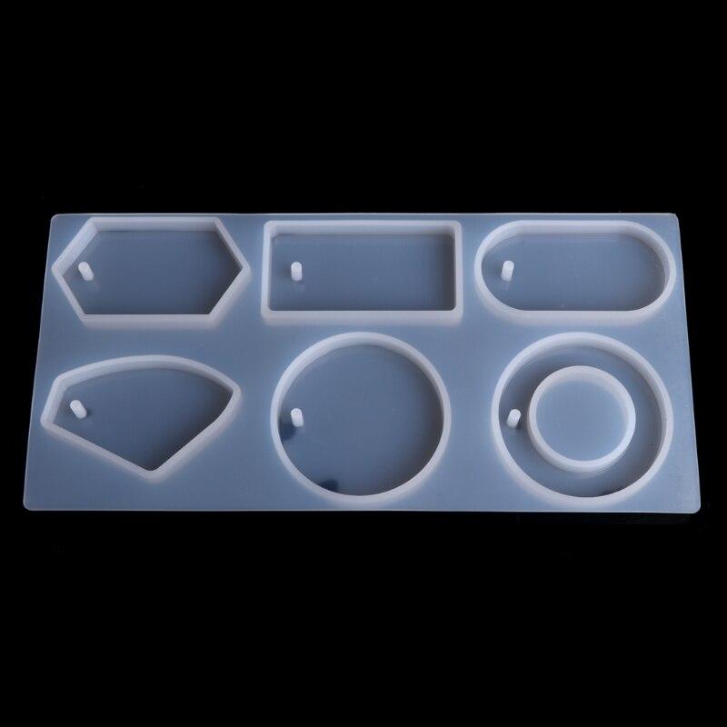Силиконовые Плесень эпоксидной смолы ювелирных изделий свитер цепи кулон слесарный отверстие-m15