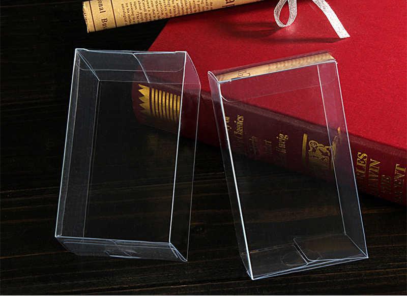 50 pcs 3x3xh jóias caixas de armazenamento caixa de plástico transparente caixa de presente claro pvc embalagem caixa de Exibição pvc boxen para wed/natal