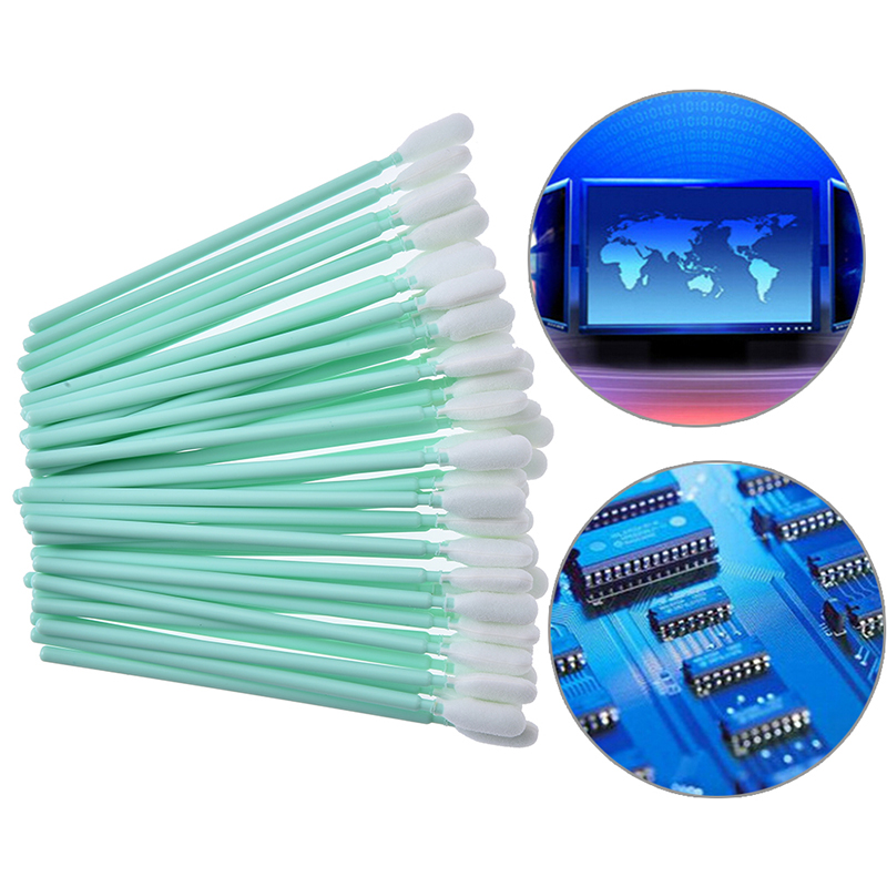 100 Pcs Cotton Buds Cleaning Swabs 95mm Long Wooden Handle Tattoo Makeup Microblade Cotton Swab Sticks Makeup Cotton Swabs