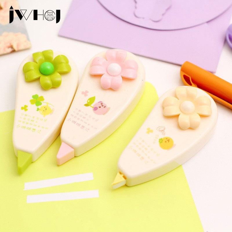 1 Pcs 8M Sweet Flowers Correction Tape Kawaii Material Escolar Korean Stationery School Supplies Papelaria Kids Gift