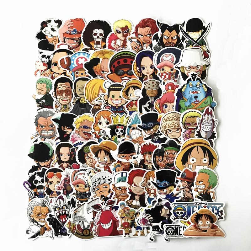 61 Pcs/Lot Anime 2020 ONE PIECE Luffy <font><b>Stickers</b></font> For Car Laptop PVC Backpack Home Decal Pad Bicycle PS4 waterproof Decal image