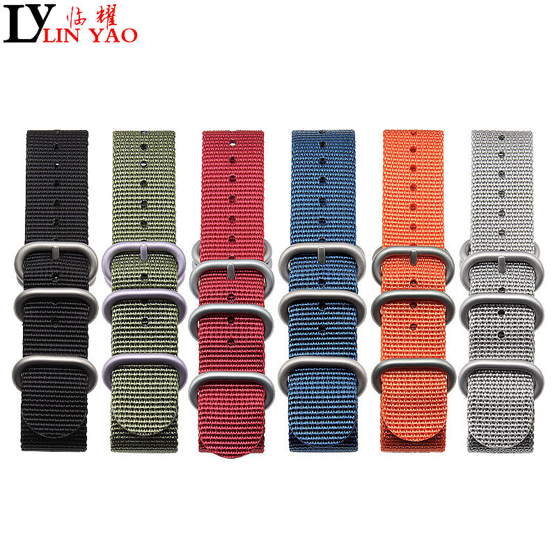 ZULU NATO Watchband Heavy Duty Nylon Canvas Strap Ring Buckle 18mm 19mm 20mm 21mm 22mm Men Replacement Watch Band Exempt postage image