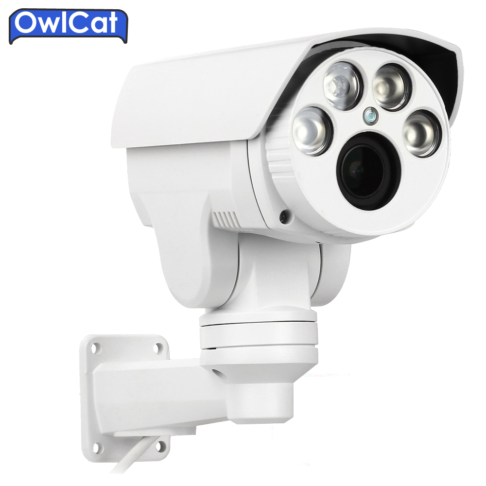 OwlCat Full HD 1080P 2MP 4X 10X Auto Zoom Varifocl lens PTZ Outdoor Security CCTV ip Camera IR cut & TF Card Motion Detection owlcat hd 1080p ptz ip camera outdoor 4x zoom auto focus lens network cctv wired camera outdoor ir cut onvif p2p mobile monitor