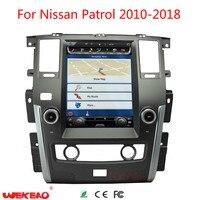 wekeao auto GPS Navigation car Radio for Nissan Patrol car DVD video USB MP4 12.1 Android 6.0 HD Tesla Style multimedia player