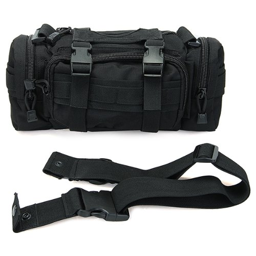 Black movement service line travel bag
