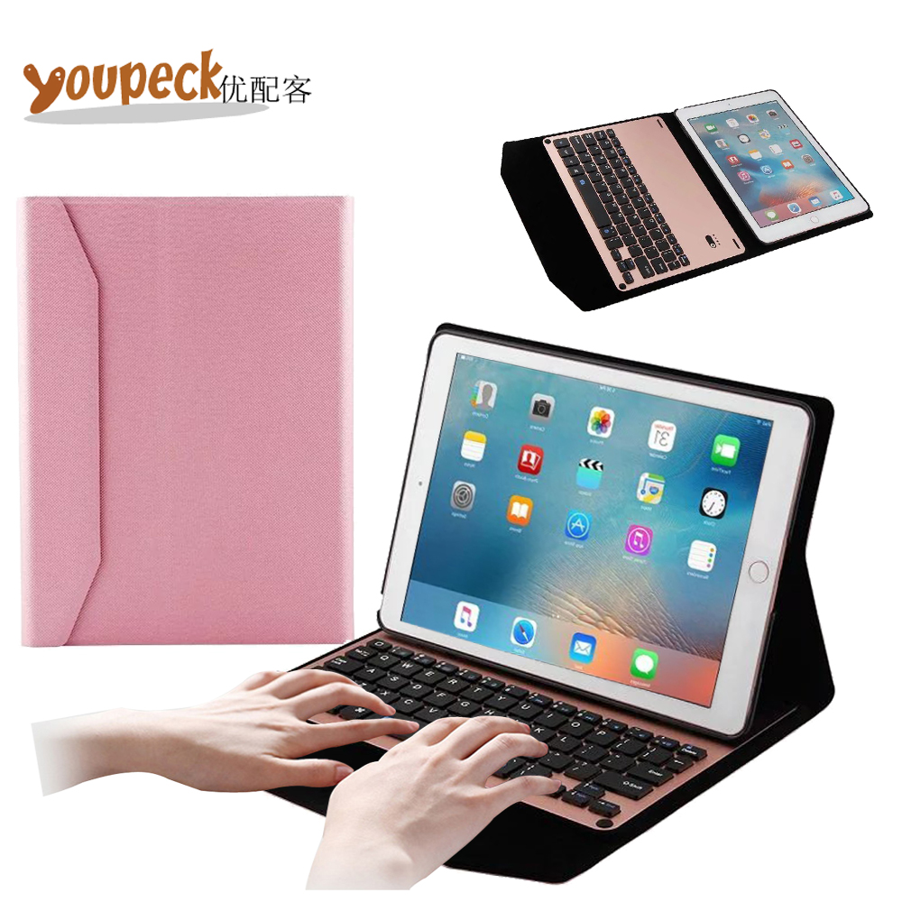 ФОТО Ultra Thin Pu Leather Bluetooth Keyboard Case for for Apple iPAD Pro 9.7 Tablet Cover w/ US QWERTY Wireless Bluetooth Keypad