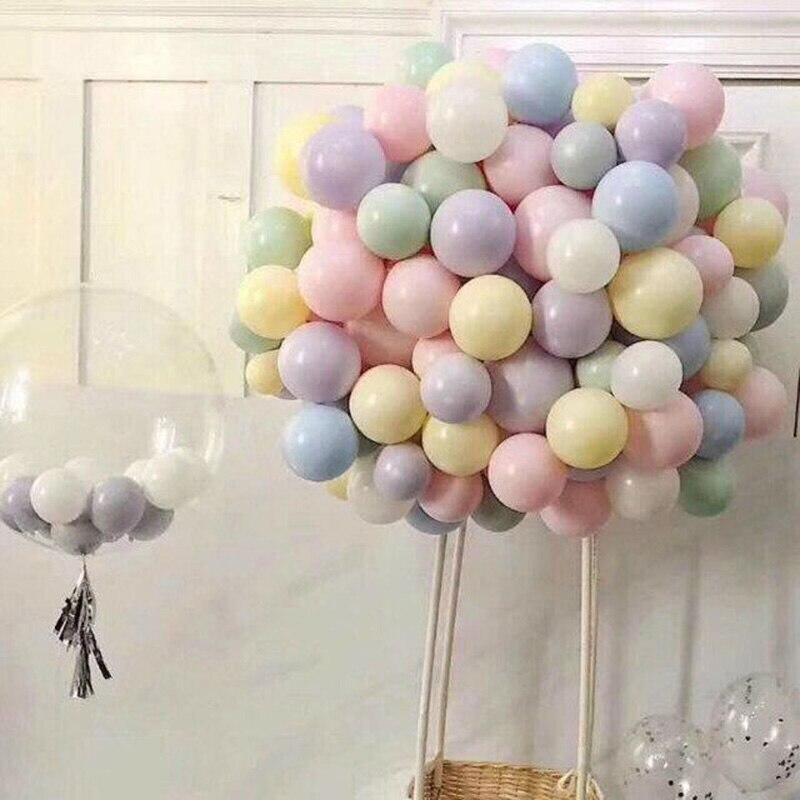 Macaron balloon 10inch 2 2g macaron balloons decoration romantic wedding ballon birthday party supplies helium gas ballon in Ballons Accessories from Home Garden