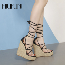 Transparent Ankle Strap Ladies Sandals Waterproof Platform Sandals Women Shoes Summer High Heels Solid Color Sexy Wedges Shoes sorbern khaki women sandals rope high heels platform shoes summer style ladies work shoes wedges sandals ankle strap heels