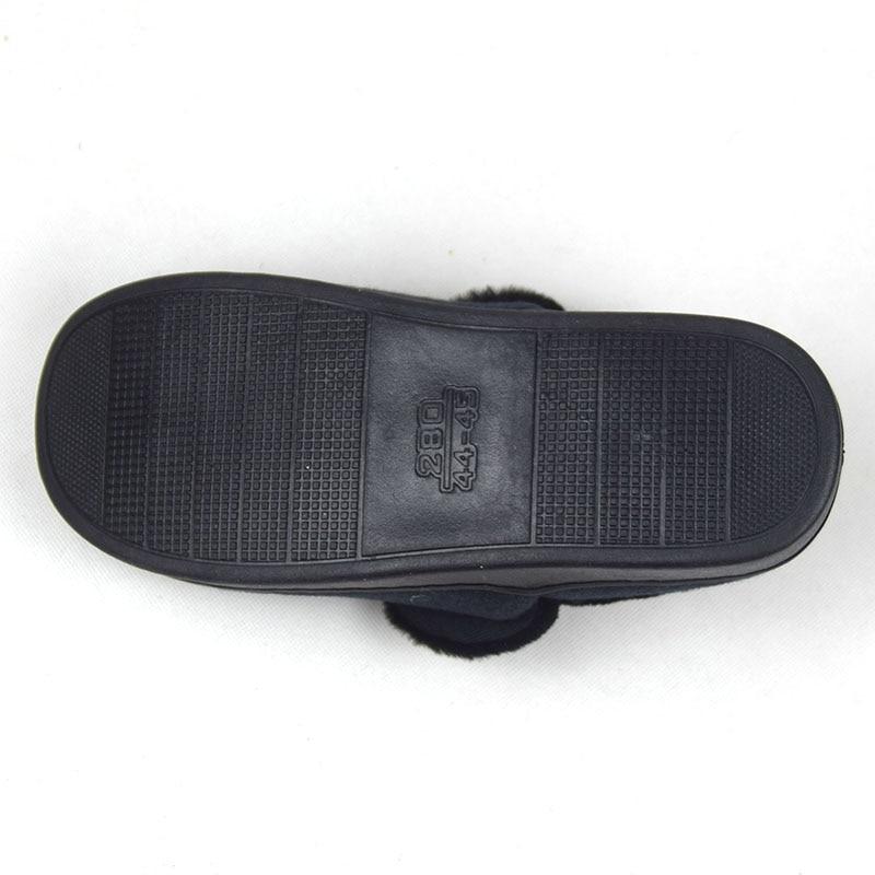 Maison Épaissir Garçons Sol Coton slip En Plein Pantoufles Air De Chaussures gris Plates Fayuekey Hommes Chaud Hiver Noir Non Intérieur Peluche wS4xqfZ6Y