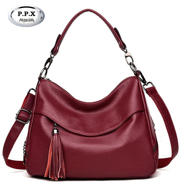 New Hot Sale Pu Leather Ladies Handbags Fashion Tassel Women