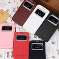 Luxury brand flip leather case for Galaxy Grand2 G7106 book cover  view window  original pu support stand  phone cases new man